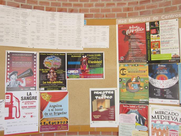 Spectacole la Zaragoza, la Centro Civico Teodoro Sanchez Punter