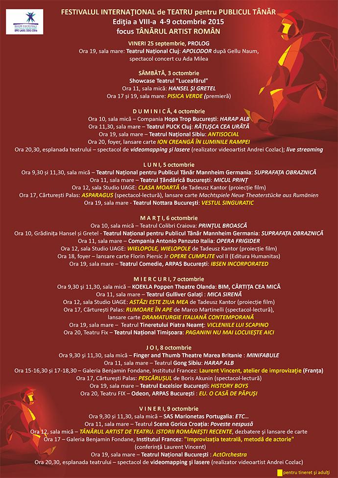 FITPT, ediţia a VIII-a, 4-9 octombrie 2015 • focus TÂNĂRUL ARTIST ROMÂN
