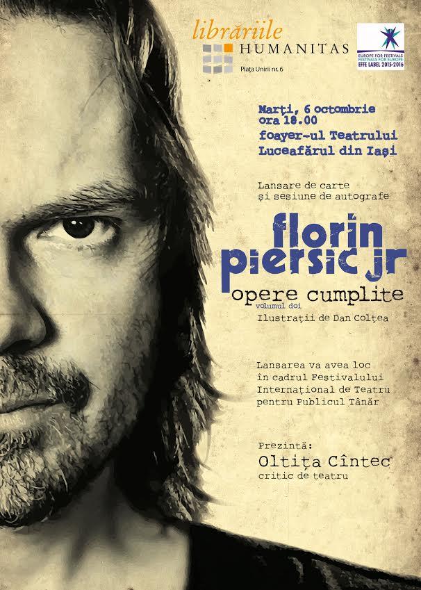 """Lansarea cărții """"Opere cumplite"""" de Florin Piersic Jr."""