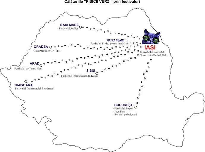 """Pisica verde, Teatrul """"Luceafarul"""" Iași"""