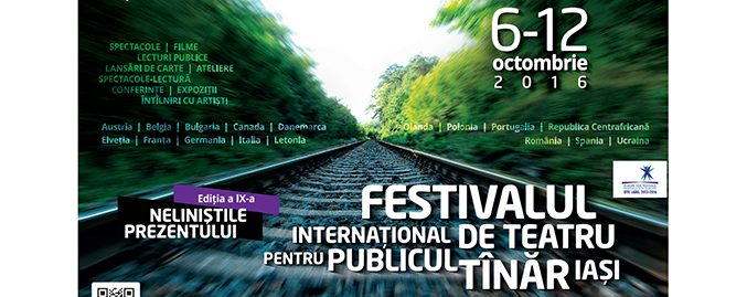 """Festivalul Internațional de Teatru pentru Publicul Tânăr Iași (FITPTI), ediţia a IX-a """"Neliniștile prezentului"""", 6-12 octombrie 2016"""