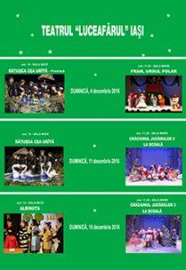 Spectacolele lunii decembrie 2016 pentru care se pot cumpăra online bilete cu locuri
