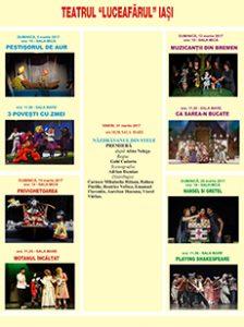 Spectacolele lunii martie 2017 pentru care se pot cumpăra online bilete cu locuri