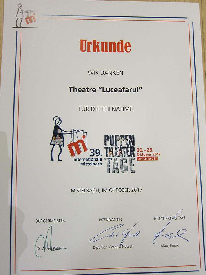 Teatrul Luceafărul, reacții foarte bune după Mistelbach și Viena