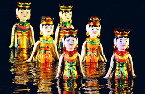 Teatrul de marionete pe apă Hanoi Vietnam(exclusiv la Iași),Marionetele vietnameze pe apă