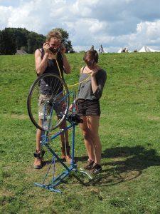 Espaces Cyclophones Belgia,expozițieCiclofonii. Instalații sonore interactive