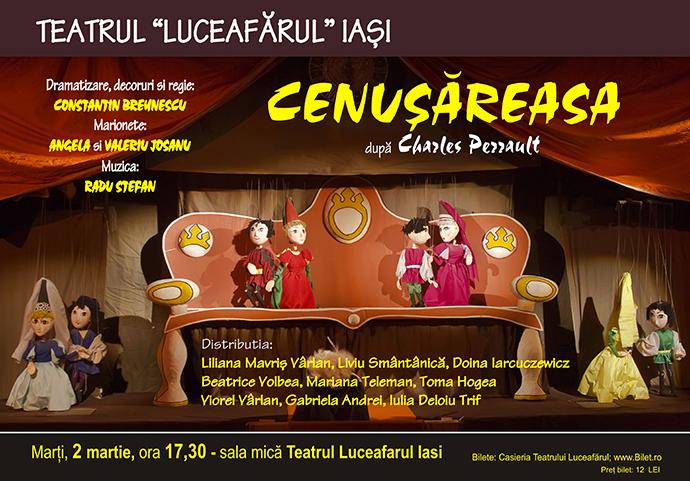 CENUȘĂREASA după Charles Perrault Dramatizare, decoruri, regie: Constantin Brehnescu