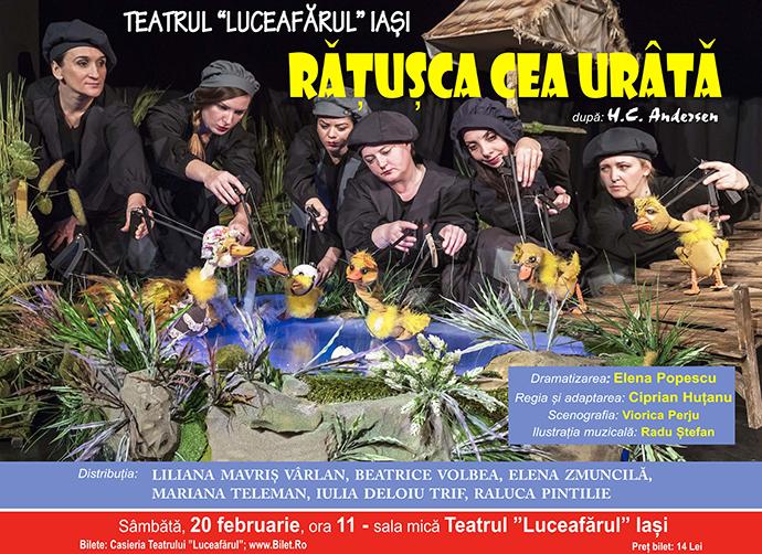 RĂȚUȘCA CEA URÂTĂ Dramatizare: Elena Popescu Adaptare: Ciprian Huțanu