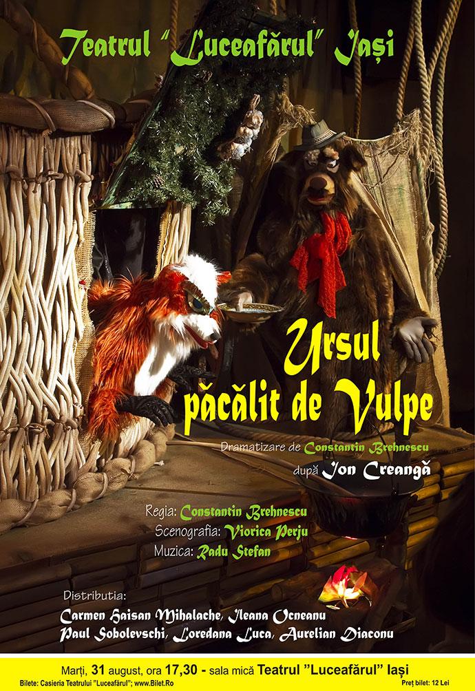 Ursul păcălit de vulpe după Ion Creangă Regia: Constantin Brehnescu